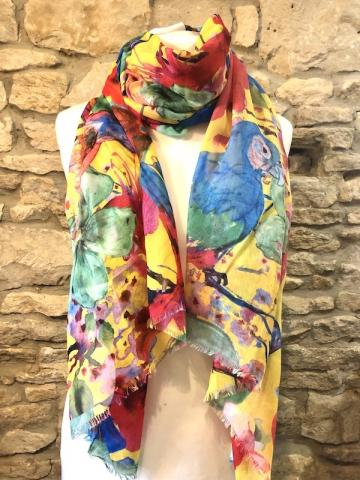NEW SUMMER 2020 Parrott water colour scarf
