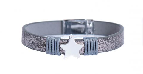 Metallic grey star