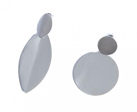 Asymectic silver earring