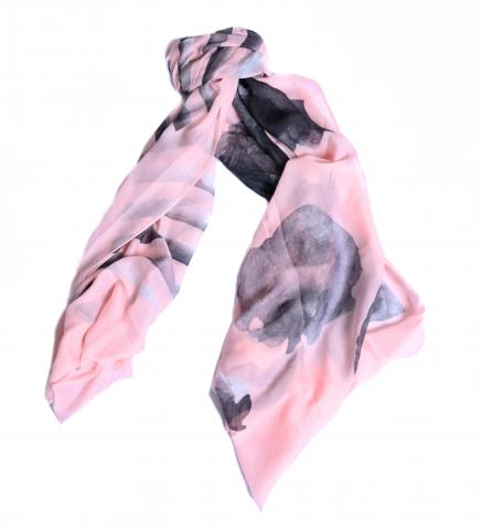 Stripe and floral scarf 25% off