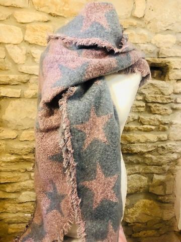 wooly scarf with stars SORRY OUT OF STOCK