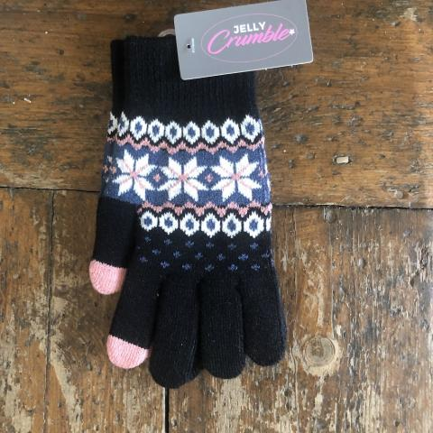Fairisle Black Glove