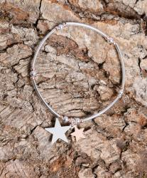 bracelet with a silver star