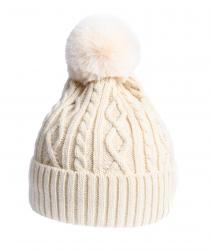 Cream bobble hat